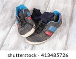 sweaty socks and sneakers after ... | Shutterstock . vector #413485726