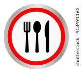spoon fork and knife on white... | Shutterstock .eps vector #413491162