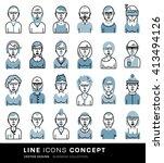 set of people avatars for...   Shutterstock .eps vector #413494126