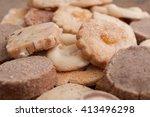 closeup of alsatian cookies on... | Shutterstock . vector #413496298