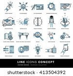 thin line icons set. business... | Shutterstock .eps vector #413504392