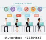 group of call center and... | Shutterstock .eps vector #413504668