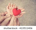 old hand of the elderly and a... | Shutterstock . vector #413511406
