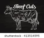 beef cuts. template menu design ...   Shutterstock .eps vector #413514595