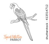 parrot. tropical bird. vector... | Shutterstock .eps vector #413514712