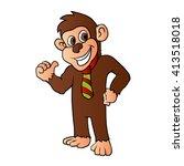 monkey with tie. | Shutterstock .eps vector #413518018