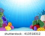 beautiful underwater world | Shutterstock .eps vector #413518312