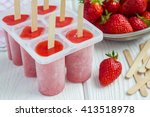 homemade popsicles with... | Shutterstock . vector #413518978