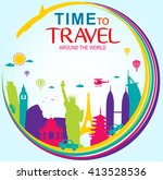 full vector time to travel... | Shutterstock .eps vector #413528536