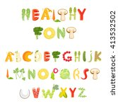 food alphabet made of... | Shutterstock .eps vector #413532502