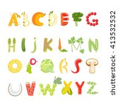 food alphabet made of... | Shutterstock .eps vector #413532532