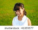 very cute girl in beautiful... | Shutterstock . vector #41355577
