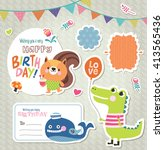 Set Of Gift Tag  Sticker With...