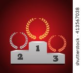 winners podium  background... | Shutterstock . vector #413567038