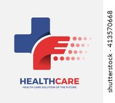 cross plus health care logo... | Shutterstock .eps vector #413570668