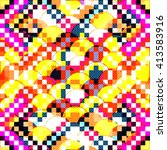 Color Abstract Geometric Pattern