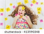 smart child with question... | Shutterstock . vector #413590348