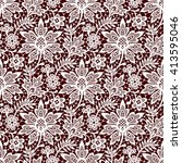vector lace seamless pattern | Shutterstock .eps vector #413595046