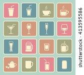 drinks icon | Shutterstock .eps vector #413595586