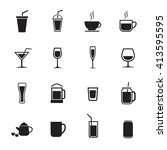 drinks icon | Shutterstock .eps vector #413595595