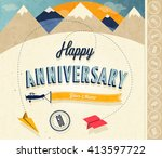 anniversary sign collection and ... | Shutterstock .eps vector #413597722