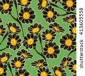 flower pattern   Shutterstock .eps vector #413605558