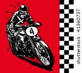 moto motocycle retro vintage... | Shutterstock .eps vector #41360737