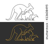 vector line symbol australian... | Shutterstock .eps vector #413608495