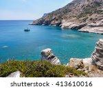 amorgos island landscape ... | Shutterstock . vector #413610016