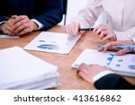 group of business people and... | Shutterstock . vector #413616862