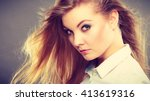 hairstyle and haircare concept. ... | Shutterstock . vector #413619316