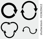 arrow icons | Shutterstock .eps vector #413620612