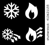 hot and cold icons | Shutterstock .eps vector #413621155