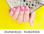 Nails With Manicure Covered...