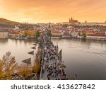 prague  czech republic  europe... | Shutterstock . vector #413627842