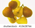 Juicy Ripe Pears Sliced  To Th...