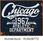 chicago t shirt graphic | Shutterstock .eps vector #413628772