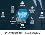 marketing strategy technology... | Shutterstock . vector #413630332