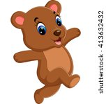 illustration of cute baby bear... | Shutterstock .eps vector #413632432