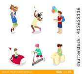 active recreation amusement... | Shutterstock .eps vector #413633116