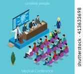 medical medicine healthcare... | Shutterstock .eps vector #413633698
