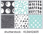 vector invitations and seamless ...   Shutterstock .eps vector #413642605