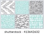 vector invitations and seamless ... | Shutterstock .eps vector #413642632