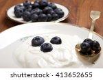 healthy breakfast with natural... | Shutterstock . vector #413652655