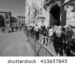 milan  italy   circa april 2016 ... | Shutterstock . vector #413657845