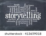storytelling word cloud on an... | Shutterstock . vector #413659018