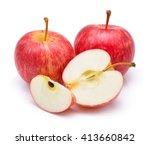 Gala Apples Over White...