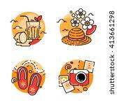 summer icon set | Shutterstock .eps vector #413661298