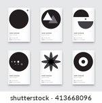 vector minimal propaedeutics... | Shutterstock .eps vector #413668096