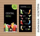 cocktail menu design. alcohol... | Shutterstock .eps vector #413670946